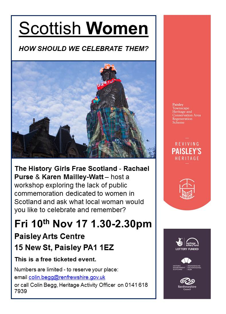 Scottish Women - how should we celebrate them - flyer